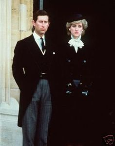 Charles and Diana at the funeral of the Duchess of Windsor 1986