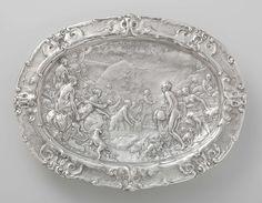 Paulus Willemsz. van Vianen | Basin with scenes from the story of Diana and Actaeon, 1613 | Rijksmuseum