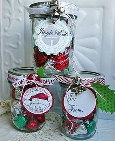 Jars of Christmas goodies