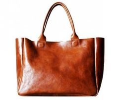 Heirloom Totes-Cognac...can you imagine all you could fit in this bag?! Have to have!!!