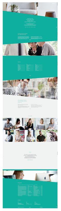Scrolling Website homepage design ideas | http://www.seesawstudio.com.au/