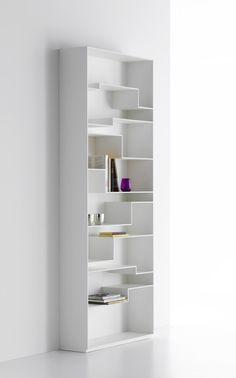 MDF bookcase MELODY by MDF Italia | design Neuland Industriaedesign