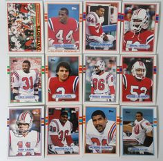 1989 Topps New England Patriots Team Set of 12 Football Cards #NewEnglandPatriots