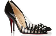 Christian Louboutin - Pointipik 100 Leather Pumps - Black may contain affiliate links