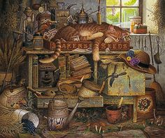 Charles Wysocki - REMINGTON THE HORTICULTURIST -  LIMITED EDITION PRINT Published by the Greenwich Workshop