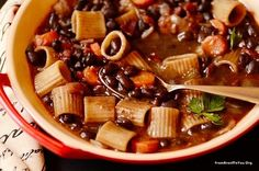 Brazilian Minestrone (Black Bean, Pasta, Bacon, and Vegetable Soup) - From Brazil To You
