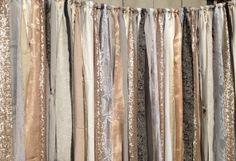 Metallic garland background