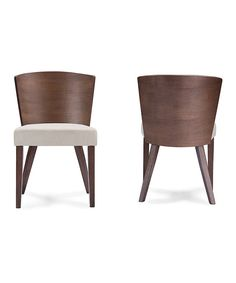 Look at this Sparrow Brown Wood Modern Dining Chair Set on #zulily today!