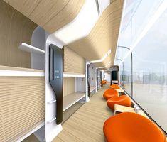 Futuristic Train Interior Bombardier Car, Train ...