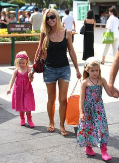 Denise Richards with daughters Sam and Lola Designer Baby Clothes, Denise Richards, Celebrity Babies, Baby Design, Daughters, Summer Dresses, Woman, Celebrities, Vintage