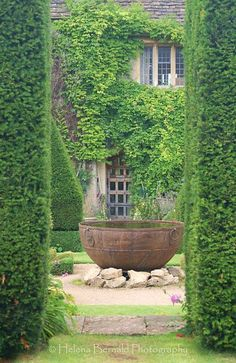 A garden fountain is one of thoes objecs that provides a blend of both natural and artificial gorgeousness. Generally, people don't consider a Garden fountain an important part of decorating gardens i Garden Cottage, Home And Garden, Pot Jardin, House Of Beauty, Water Features In The Garden, Garden Fountains, Fountain Garden, Outdoor Fountains, Water Fountains