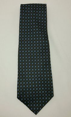 Polo by Ralph Lauren Neck Tie Blue Square Design 100% Silk EUC Free Ship #PolobyRalphLauren #Tie