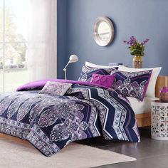 Product Image for Intelligent Design Adley Comforter Set in Purple 1 out of 5