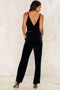d6aad0d3c4 Midnight Oil Velvet Jumpsuit - Clothes