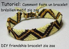 comment faire un bracelet brésilien motif zig zag (DIY friendship bracel...