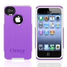 This is a purple/ white (there are lots of colors) Otter Box Commuter Case for Apple iPhone 4/ 4S.  I love mine, I have had it for several years and my phone looks and works great because of it.