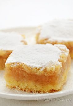 Apple Pie Bars (Croatian Pita) - crumbly butter dough with cinnamon apple filling (Kitchen Nostalgia) Pita Recipes, Apple Recipes, Baking Recipes, Sweet Recipes, Cake Recipes, Dessert Recipes, Holiday Recipes, Apple Desserts, Delicious Desserts