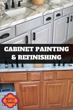 We are experts in cabinet refinishing who thrive on meeting challenges with creativity and expertise.  Cabinet Refinishing   Cabinet Painting   Before & After   Restyle Junkie   Home Makeover   Updated Home   Home Renovation   Greater Phoenix Area Restaining Kitchen Cabinets, Painting Kitchen Cabinets White, Kitchen Cabinets Pictures, Kitchen Cabinets In Bathroom, Painting Cabinets, Kitchen Renovation Cost, Budget Kitchen Remodel, Kitchen On A Budget, Home Renovation