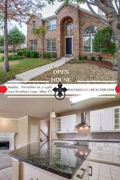 OPEN HOUSE:  Sunday, November 19 from 2:00 to 4:00