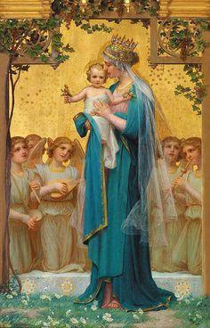 Madonna And Child by Enric Monserday Vidal (1850 – 1926, Spanish).