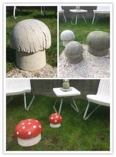 Sopper laget av betong 👌🏻 Outdoor Furniture, Outdoor Decor, Ottoman, Home Decor, Homemade Home Decor, Decoration Home, Yard Furniture, Interior Decorating
