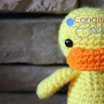 """This little guy stands about 7"""" tall   Want a different color? Let me know when you check out !   Pattern credit: http://www.ravelry.com/patterns/library/little-duck"""