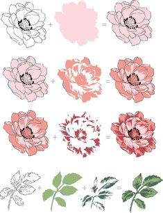 This is a bundle of Beautiful Day Stamp Set and coordinating die set. This set has a large Peony, and a few other supporting images some of which are multi-step and others simply outline image. Altenew Cards, Stampin Up Cards, Flower Cards, Paper Flowers, Outline Images, Peonies Bouquet, Colouring Techniques, Marianne Design, Card Making Techniques