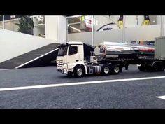 Bruder white Mercedes axor Truck  on platform RC Live Action