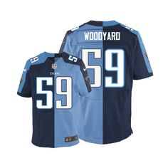 Wesley Woodyard Men s Elite Team Alternate Two Tone Jersey  Nike NFL  Tennessee Titans   947aded7f