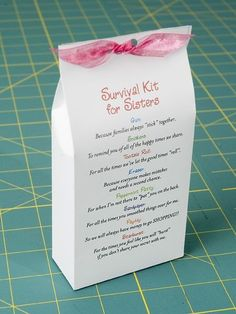 (CCV) Such an adorable gift for sisters! I thought too cool not to share.