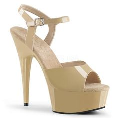 True To Size New In Box Styles: Nude Tan Patent 7 Inch Heels Stripper Celebrity Stilettos Peep Toe Prom Dressy Elegant Platform Stilettos, Stiletto Shoes, High Heels, Shoes Heels, Flats, Sexy Heels, Platform Shoes, Pole Dance, Rupaul