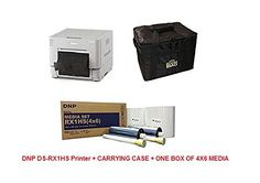 Introducing DNP DSRX1 PRINTER  CARRYING CASE  1 BOX OF 4X6 MEDIA 1400 PRINTS. Great product and follow us for more updates!