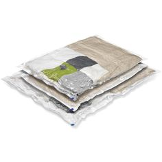 Vacuum-Packs are vacuum sealed storage bags designed for compacting and storing everything from seasonal clothing to linens.