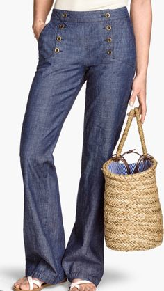H&M sailor jeans in flare style