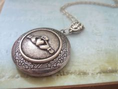 CLADDAGH antique silver locket necklace by plasticouture on Etsy, $26.50