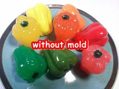 DIY How To Make Jelly Pudding Without Mold 몰드없이 파프리카 젤리 푸딩 만들기 놀이 장난감 식완