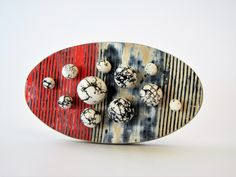 """Hail"" - brooch by Sonya Girodon Wow Products, Home Art, Jewelry Art, Polymer Clay, Brooch, Plates, Texture, Tableware, Handmade"