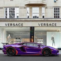 Purple Red trimmed Aventador
