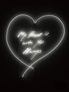 Tracey Emin My Heart is with you Always 2014 Neon 154.5 x 145.8 cm
