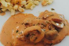 Hunter sauce from Tickerix Chicken Skewers, Herb Butter, International Recipes, Street Food, Dips, Pesto, Food And Drink, Favorite Recipes, Vegan