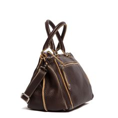 "$348. Little Brooklyn Italian Raw | Women's Shoulder Bags | Roots...-Designed and Handcrafted in Canada Premium Italian leather -Contrasting edges give it rugged character -Handle Drop 5"" -Approximate Dimensions: 12.5""(L) x 9""(H) x 6""(D)"