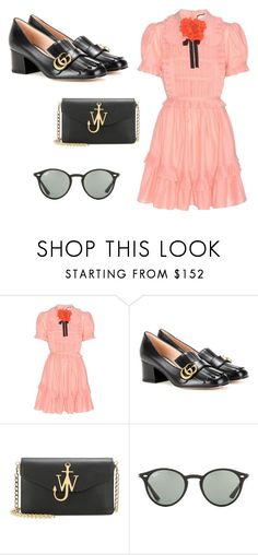 """""""Sin título #7722"""" by ceciliaamuedo ❤ liked on Polyvore featuring Gucci, J.W. Anderson and Ray-Ban"""