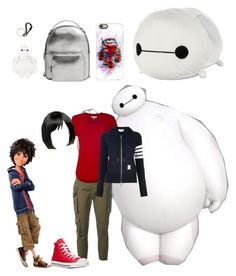 """Big Hero 6"" by jade-alicia-sherry ❤ liked on Polyvore featuring York Wallcoverings, Dsquared2, MICHAEL Michael Kors, Thom Browne, Converse, Disney, MANGO, ASOS and Casetify"