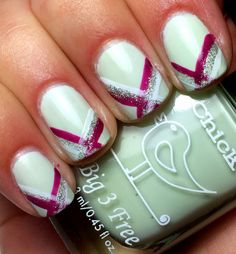 Nails by an OPI Addict: Striped Tips!
