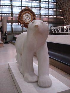 François Pompon (1855-1933) Ours blanc (Polar Bear).  Musée d'Orsay , Paris