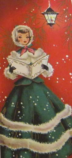 Vintage Christmas Card, okay, why don't Christmas cards look like that now?!?!?!?!