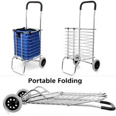 Stair Climbing Folding Shopping Storage Trolley 2 Wheeled Cart Trailer Aluminum | eBay
