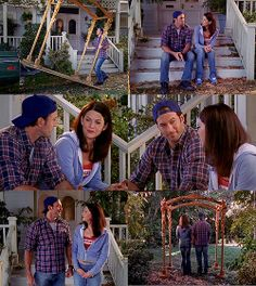lgraham:  bokayjunkie:  Lorelai: No one has ever made me a chuppah before. Luke: Well, you only get married once. Theoretically. Lorelai: Yeah, you only get married once.(via javajunkiedaily)