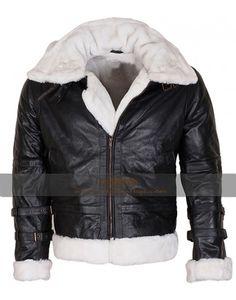 Men's Aviator Black B3 Bomber Flight Fur leather Jacket,fashionable,b3 bomber mens leather jacket
