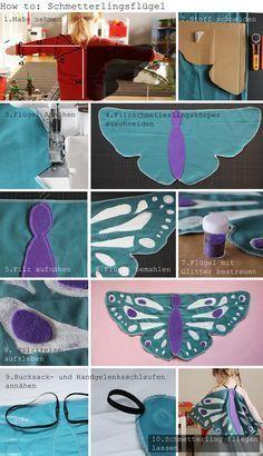 Kindertage   DIY Schmetterlingskostüm   http://kindertage.eu
